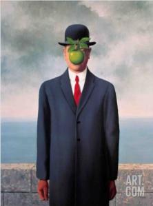Le Fils de L'Homme by Rene Magritte, via Art.com