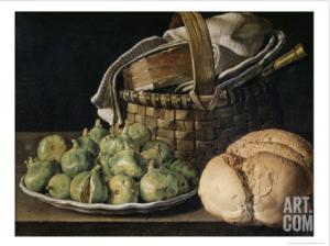 Still Life with Figs by Luis Egidio Melendez, via Art.com
