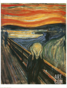 The Scream by Edvard Munch, via Art.com