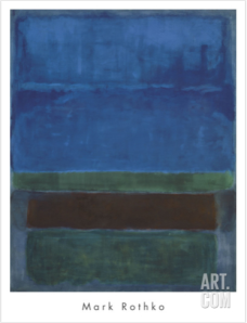 Blue, Green, and Brown by Mark Rothko via Art.com